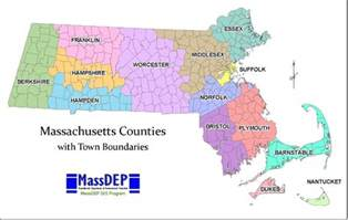Massachusetts Map Towns by Online Maps July 2012