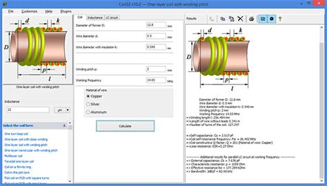 inductor choke formula coil32 the coil inductance calculator