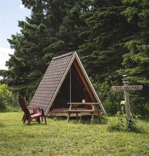 wooden tent pictou island wooden tents