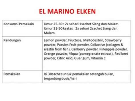 Collagen Elken el marino elken collagen 081310246699