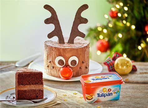 decorar tarta navidad pastel de navidad de rudolph pequerecetas