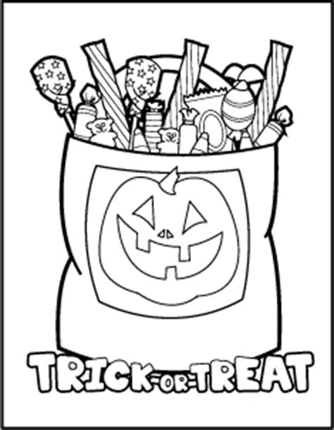 halloween treats colouring pages