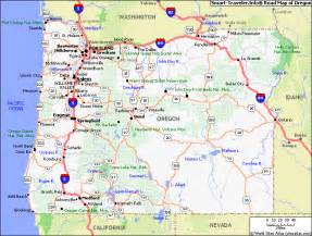 driving map of oregon map of oregon