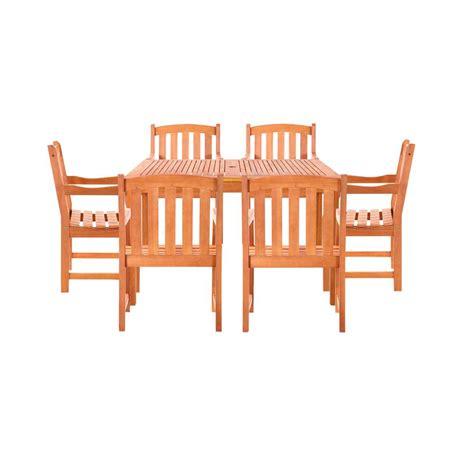 Vifah Malibu 4 Piece Wood Rectangle Outdoor Dining Set