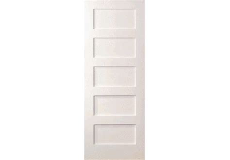 Elsh755 5 Even Panel White Primed Shaker Door 1 3 8 5 Panel Shaker Interior Door