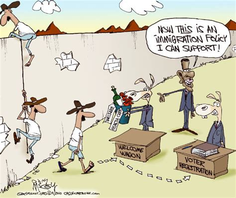 political cartoon about illegal immigration arra news service obama s immigration policy