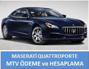 maserati quattroporte motorlu tasitlar vergisi borc