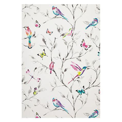 girly bird wallpaper buy john lewis hummingbird trees wallpaper multi john lewis