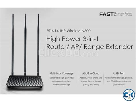 Router Asus Rt N14uhp asus rt n14uhp wireless n300 high power router clickbd