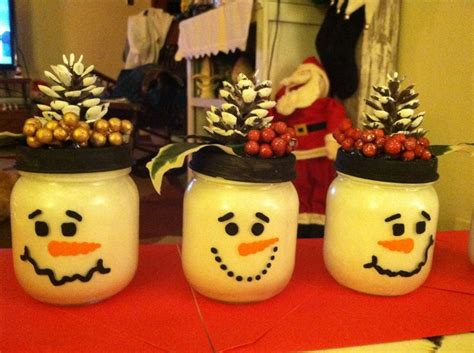 snowman baby food jars christmas pinterest