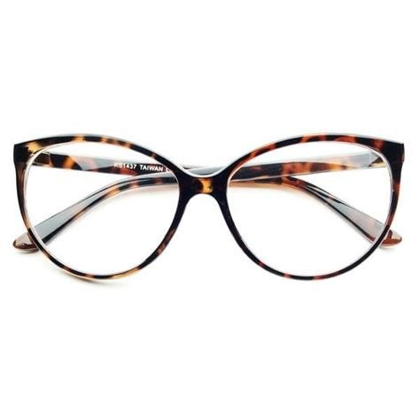 large clear lens retro vintage fashion cat eye eye glasses