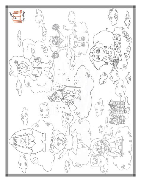 zoo map coloring page town map coloring page