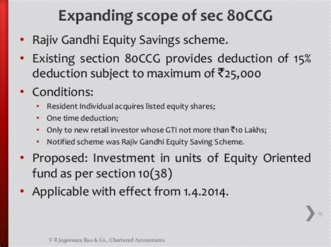Deduction Section 80ccg kalyan finance act 2013 14