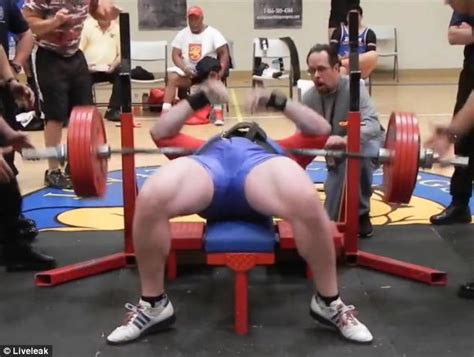 what can the average male bench press weightlifter drops 545lbs on his chest in failed benchpress daily mail online
