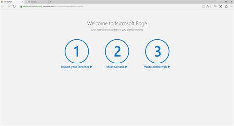 si鑒e social microsoft microsft edge welcome screen disable