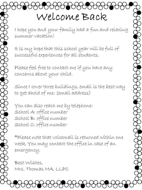 Parent Welcome Letter 5th Grade Best 25 Welcome Letter School Ideas On Kindergarten Welcome Letter Preschool