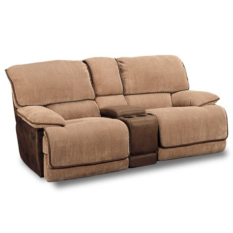 Slipcover For Loveseat Recliner by Laguna Gliding Reclining Loveseat Camel Value City