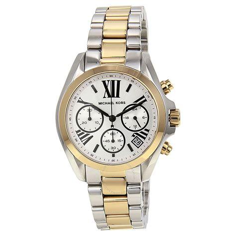 michael kors bradshaw chronograph silver