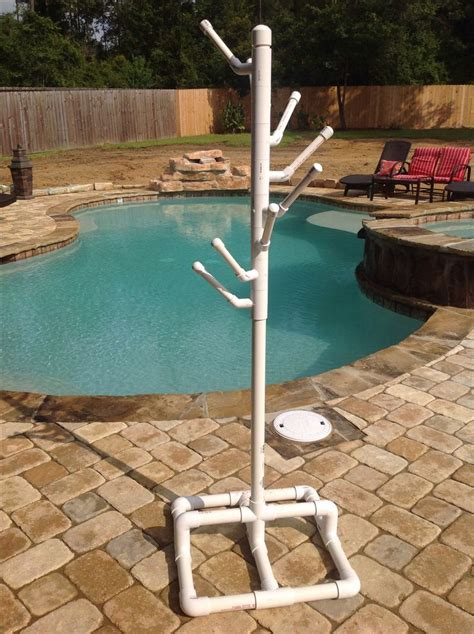 Pool Towel Rack Stand by Pvc Pool Towel Rack Husband Made Us This Pvc Towel