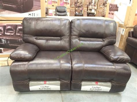 pulaski leather reclining sofa reclining leather loveseat costco full size of living
