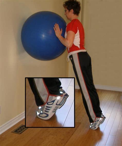 exercise ball calf raise