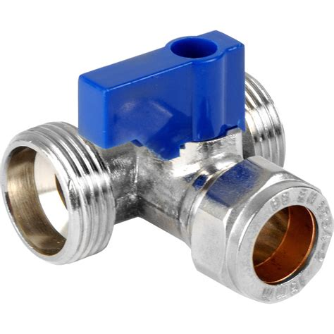T Plumbing by Dual Appliance Valve 15mm X 3 4 Quot X 3 4 Quot Toolstation