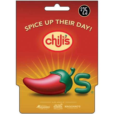 Chili S Gift Card - gallery for gt 25 gift card
