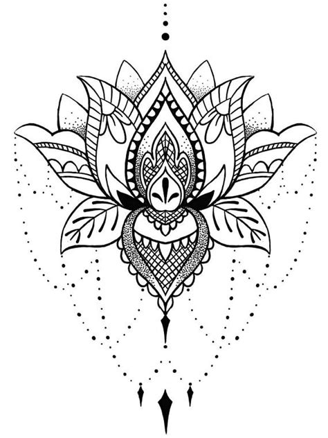lotus mandala temporary tattoo boho chic gifts for her art