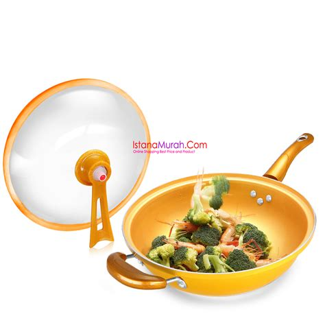 Panci Frying jual panci cookware set golden pan stenlis steel like