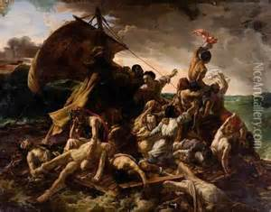 Tratwa Meduzy oil painting reproduction by Theodore Gericault   NiceArtGallery.com