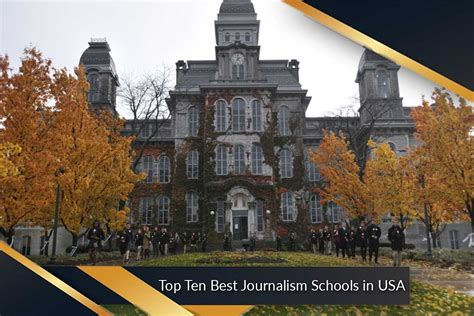 Journalism Schools by Top Ten Best Journalism Schools In Usa