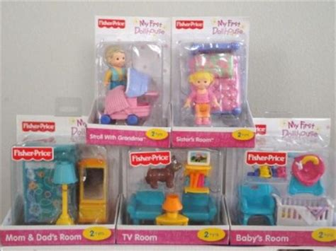 fisher price my first dolls house fisher price my first dollhouse playset people accessories complete set new ebay