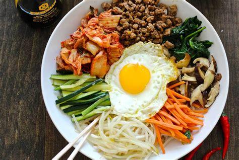 korean comfort food the ultimate korean comfort food bibimbap recipe saucy pans