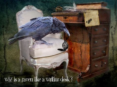 why is a raven like a writing desk tattoo rustymermaid digital and photography why is a