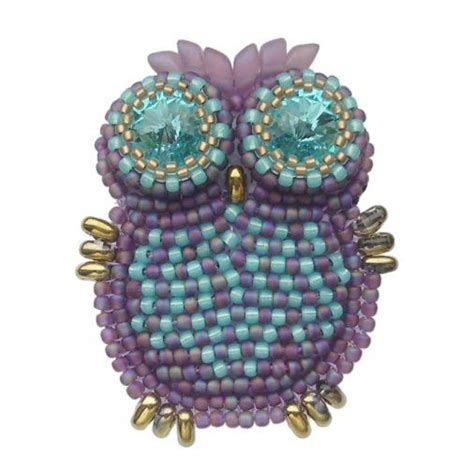 pony bead owl pattern beaded owl seed bead tutorials seed bead tutorials