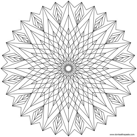 coloring pages for adults star don t eat the paste star mandala to color