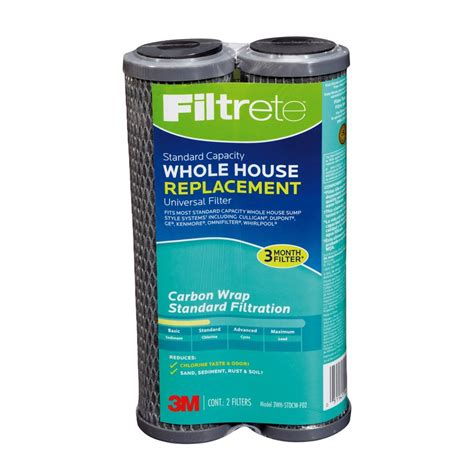 whole house water filter lowes shop filtrete 2 pack whole house replacement filter at lowes com