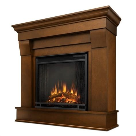 real chateau electric fireplace in espresso finish