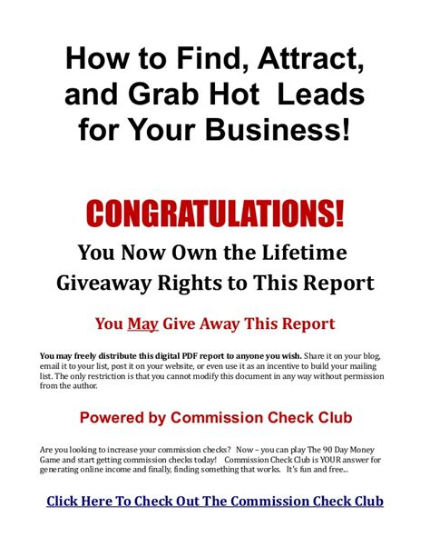 How To Get A Background Check In How To Get Leads For Your Opportunity And Earn Commission Checks