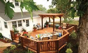 Backyard Deck Ideas Photos Archadeck Karnes