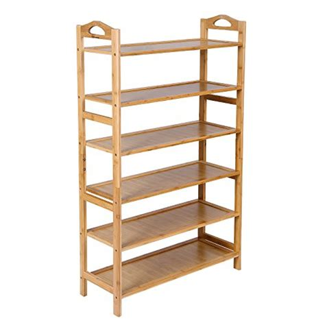 6 tier storage shoe rack 24 pair shoe organizer stackable space saving bedroom ebay songmics bamboo 6 tier shoe rack 18 24 pairs entryway shoe import it all