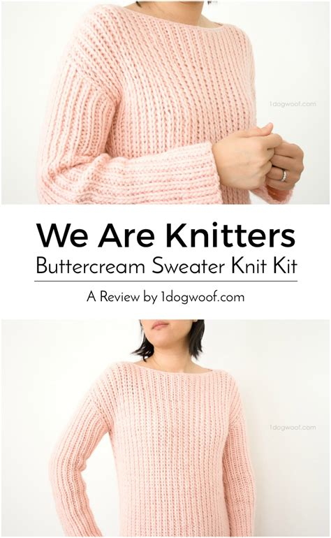 we are knit we are knitters buttercream sweater knit kit review one