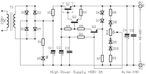 Hi Link Hilink 12 V 0 25a P N Hlk Pm12 3w 50v 3a stabilized power supply with 2n3055