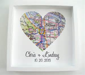 Personalized Wedding Scrapbook Wedding Gift Heart Map Framed Print By Definedesign11 On Etsy
