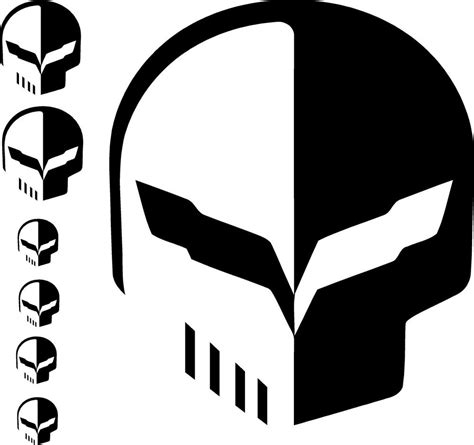 corvette racing decals corvette c7 quot jake quot racing skull decal sticker bundle