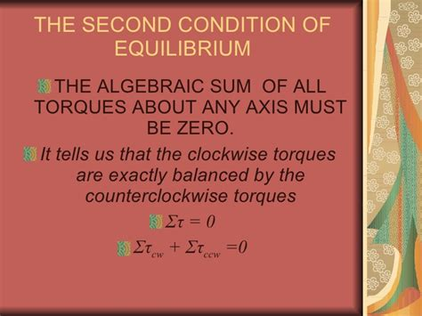 The Second Condition 2nd codition of equilibrium