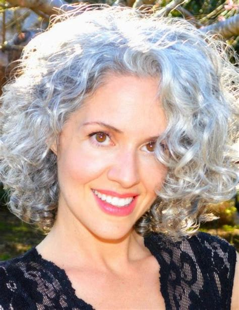 hairstyles for thick grey wavy hair short curly hairstyles for gray hair fashion hair style