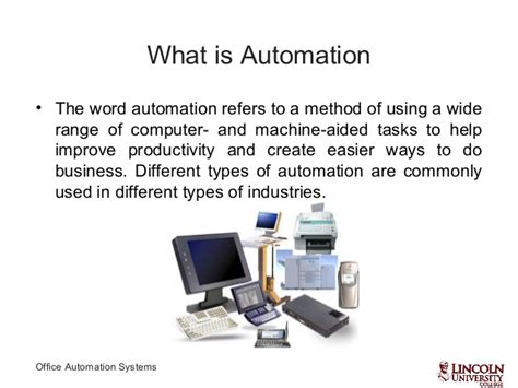 Office Automation Office Automation Sysmtems