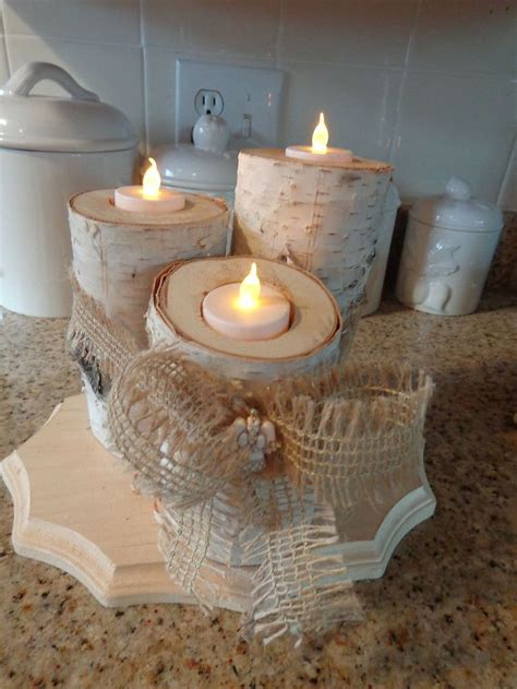 13 best images about birch log candle holders candles on