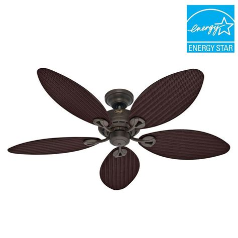hunter ceiling fan customer service hunter bayview 54 in outdoor provencal gold ceiling fan